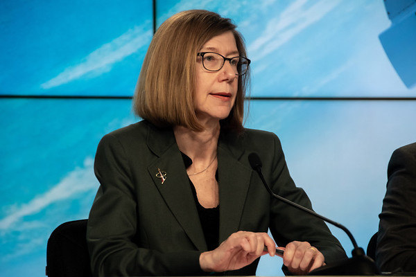 NASA Commercial Crew Program head Kathy Lueders speaks ahead of the Orbital Flight Test