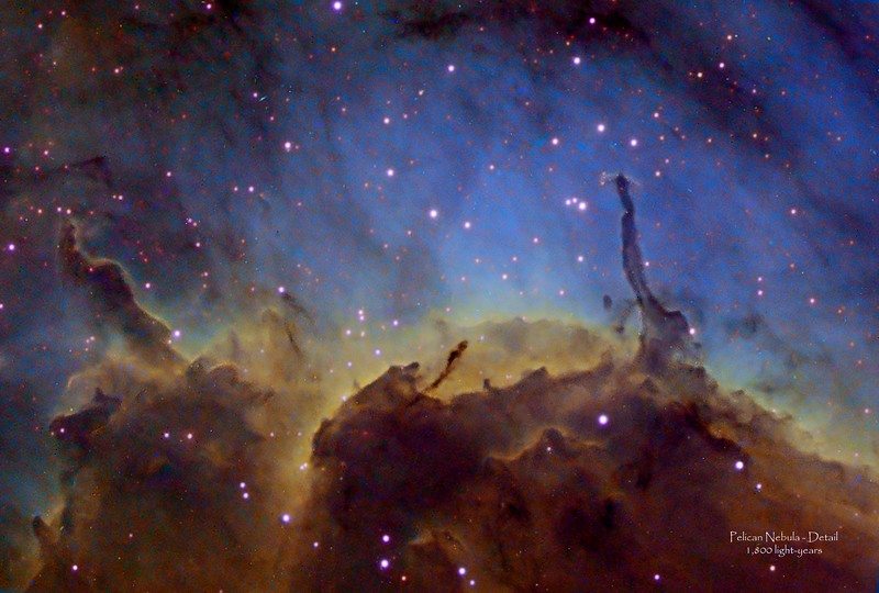 Pelican Nebula - Detail in Hubble Palette