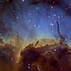 Pelican Nebula - Detail in Hubble Palette