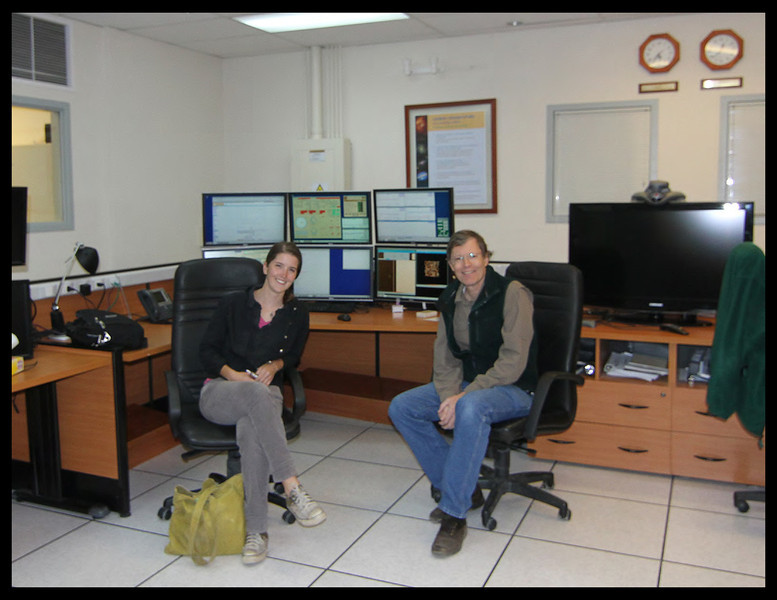 Katherine and I in Gemini South Control Room.  Dec. 2011