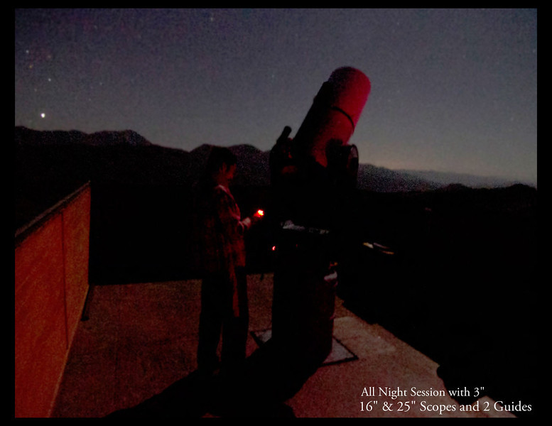 "Observatory we visited in La Serena Chile for all night viewing through a 3"", 16"" and 25"" scopes."