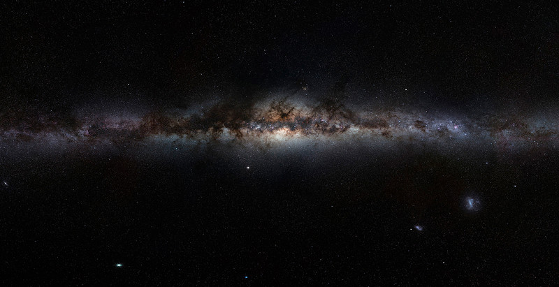 Milky Way taken by European Space Organization - A wonderful photo to compare to the artist rendition of the Milky Way.  Both in Hudson Show in 2012 for educational purposes