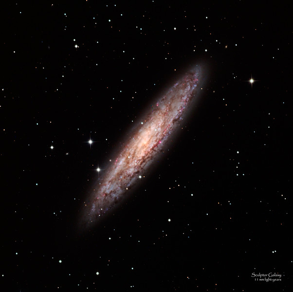 Sculptor Galaxy or NGC 253 in Southern Hemisphere