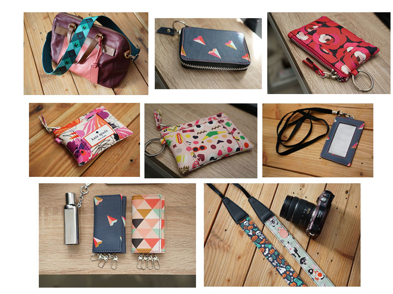 strap bag , strap camera , wallet , key  holder , name tag  .etc