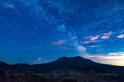 Mt St Helen and the Milky Way
