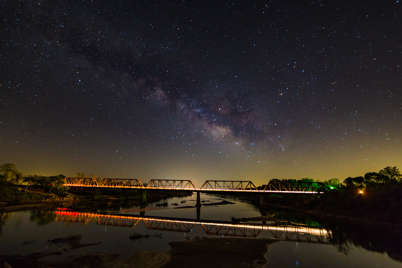 Milky Way Rising over Carpenter's Bluff Bridge