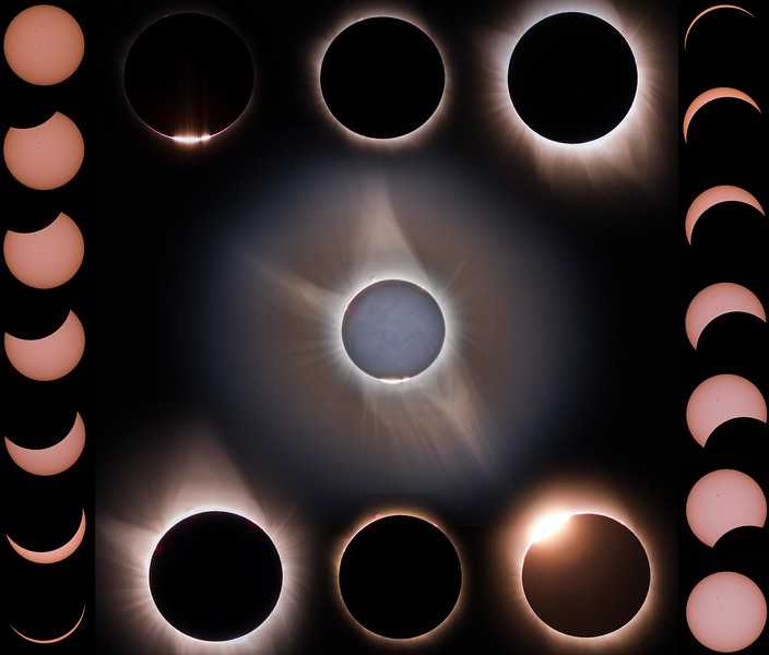 2017 Solar Eclipse Progression Collage