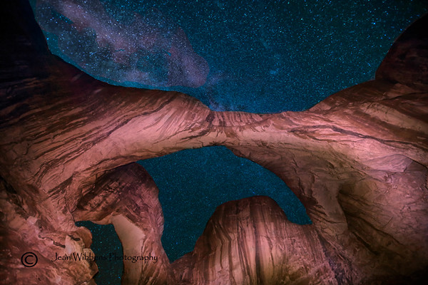 Milky Way at Double Arch, Arches, Utah