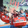 Joseph Zeneli,14, and Nick Perkins, 14, both from Sterling Heights, enjoy the Twister ride at the Stars and Stripes festival.