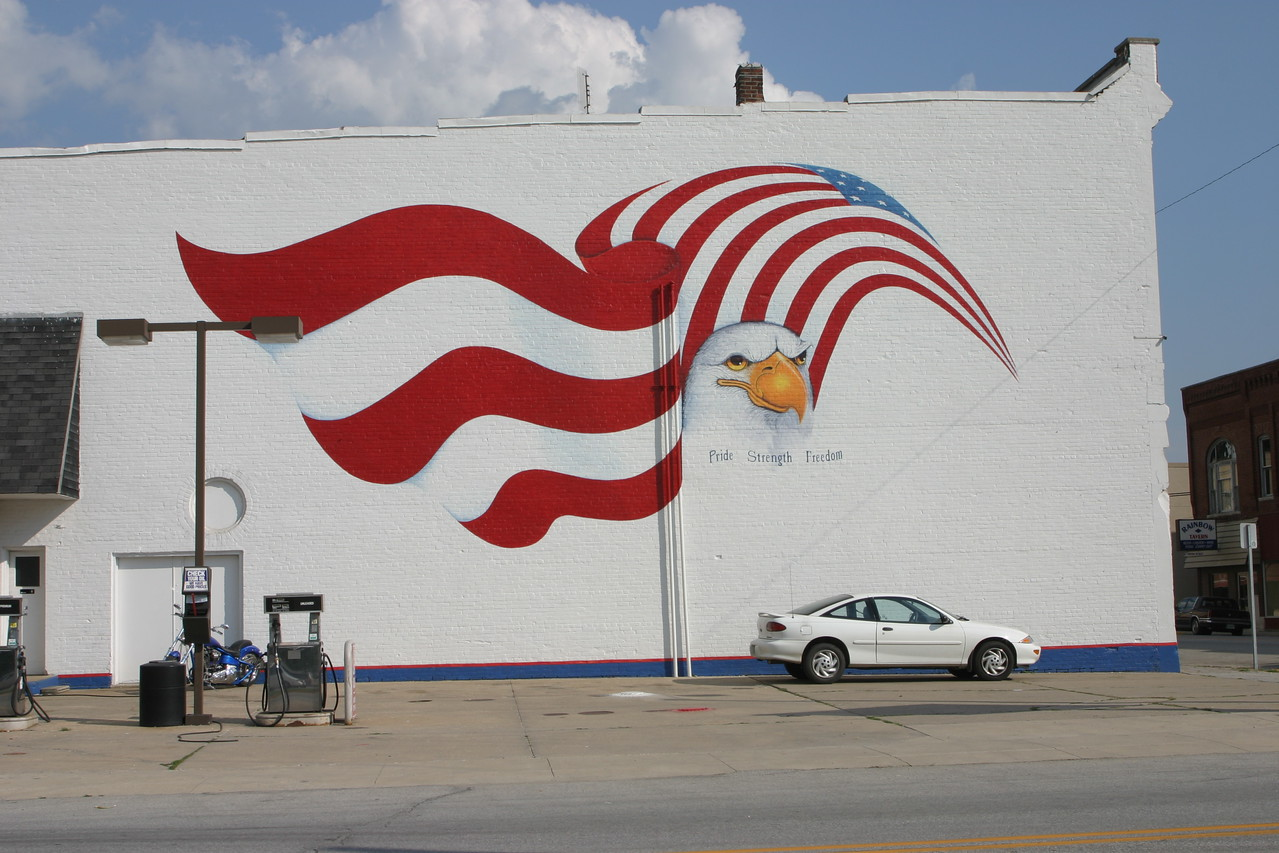 Mural in Markle, Indiana