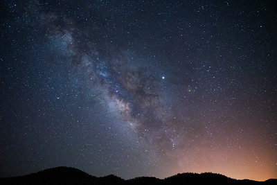 Milky Way over the cinder hills, Sunset Crater Volcano Nat. Monument, Flagstaff, AZ
