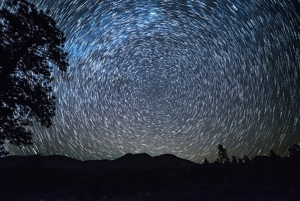 Star trails from Sunset Crater Volcano National Monument, AZ