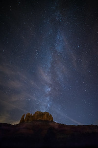 Milky Way over Cathedral Rock, Sedona, AZ
