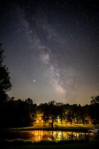Milky Way over Susan's, Bellville, OH
