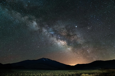 Milky Way over Humphreys Peak and Flagstaff, AZ