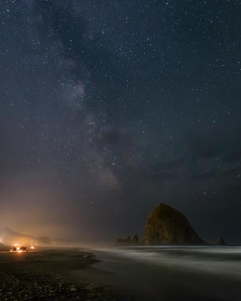 Milky Way by Firelight