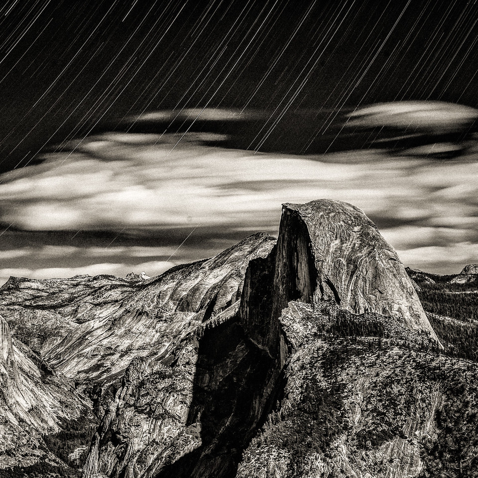 Yosemite Half Dome — Star Trail
