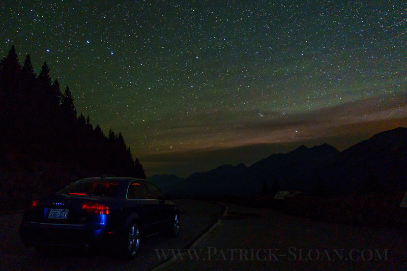 My very first attempt at taking a Milky Way shot.  A beautiful evening at Goat Rocks provided an execelent opportunity.