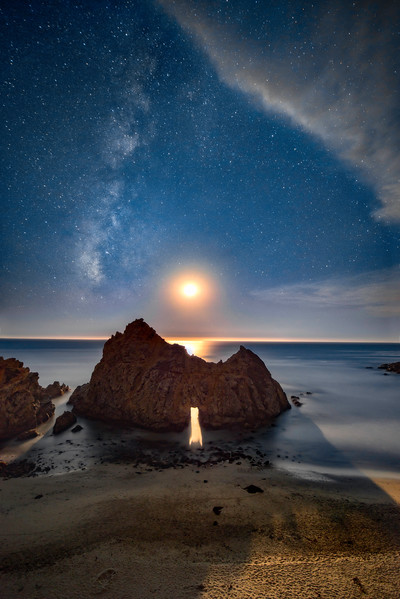 Milky Way Moonset