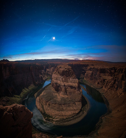 Horseshoe Bend During Twilight