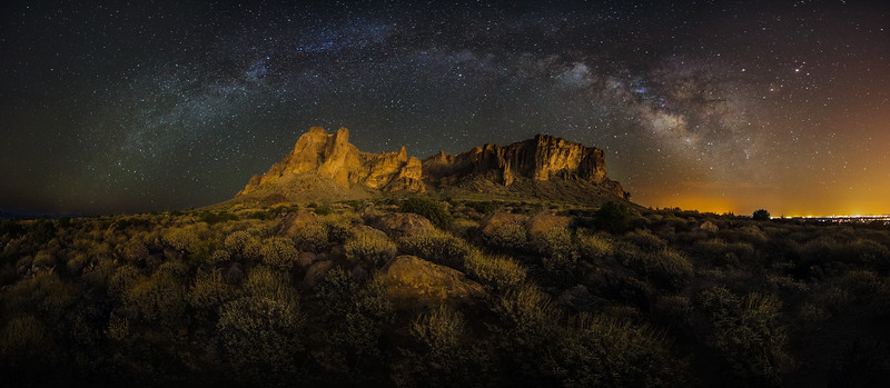 Milkyway Arch over Lost Dutchman