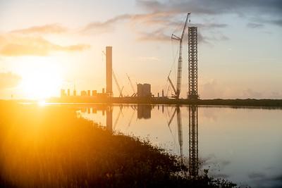 Launch site sunrise