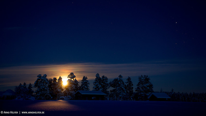 Mondaufgang in Renvallen - Arvidsjaur, Lappland, Schweden<br /> <br /> Moonrise in Renvallen - Arvidsjaur, Lappland, Sweden