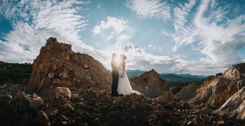 Hochzeitsfotos Sonnernuntergang