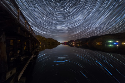 Okanagan Falls New Moon Startrail