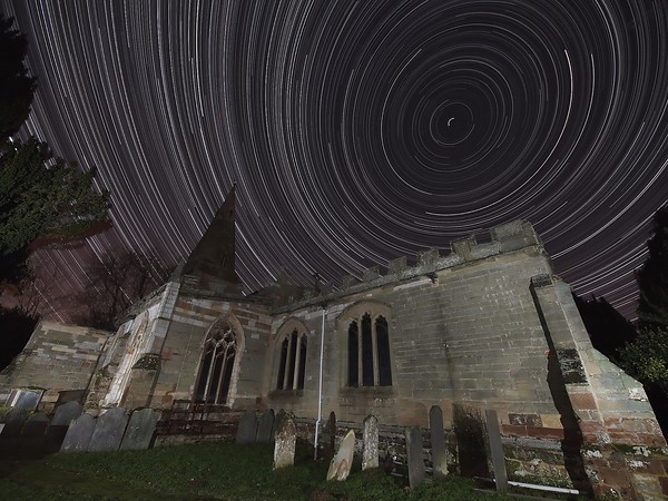 Star Trail over church for a client whom got married in this wonderful church at Misterton, Leics.