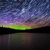 Clarke Lake Auroral Startrail