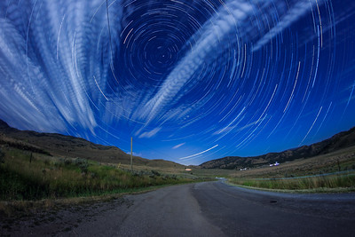 White Lake Moonlit Startrail