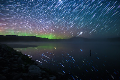 Ellis Reservoir-Misty Auroral Startrail