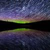Clarke Lake Auroral Startrail Mirror