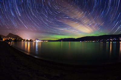 Powell Beach Auroral Startrail I