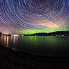 Powell Beach Auroral Startrail II