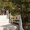 Steep climb to the Lover's Leap outlook at Starved Rock.