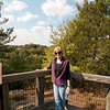 Cheri, at one of the overlooks in Starved Rock