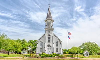 Exterior of Sts. Cyril & Methodius Catholic Church in Dubina, Texas