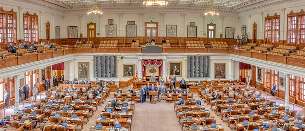 The Texas State House Chamber in the Capitol Building