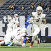 Dane Ledford (2) throws a pass down the field as the Eagles take on the La Vega Pirates on Dec. 18, 2015 at NRG Stadium in Houston, Texas. (Christopher Piel/The Talon News)