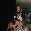Argyle's Cheer team competes at UIL State Spirit Competition at the Fort Worth Convention Center in Fort Worth, Texas on January 15, 2021.