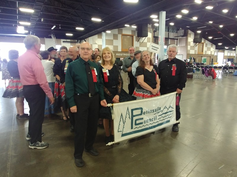 """Penisnula Council lining up for the Rainier Rendezvous """"Grand March"""""""