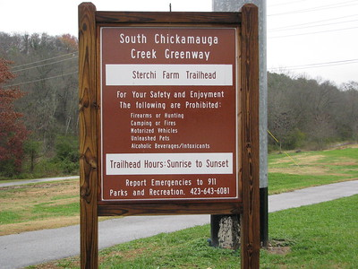Tennessee: Trailhead sign