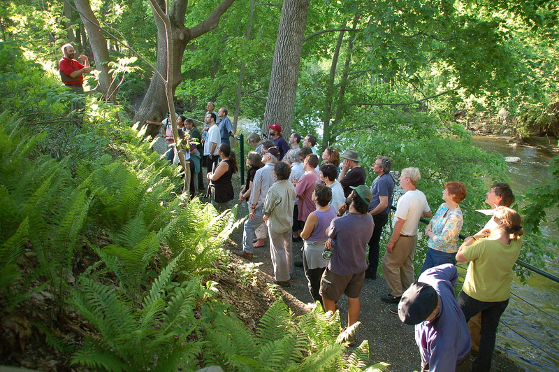 Massachusetts: Visitors on a native plant tour