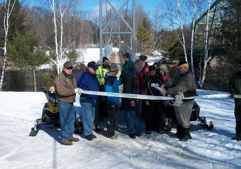 Maine: Penobscot River Snowmobile Bridge