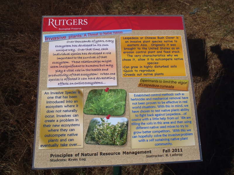 New Jersey: Signage Rutgers EcoPreserve Trails
