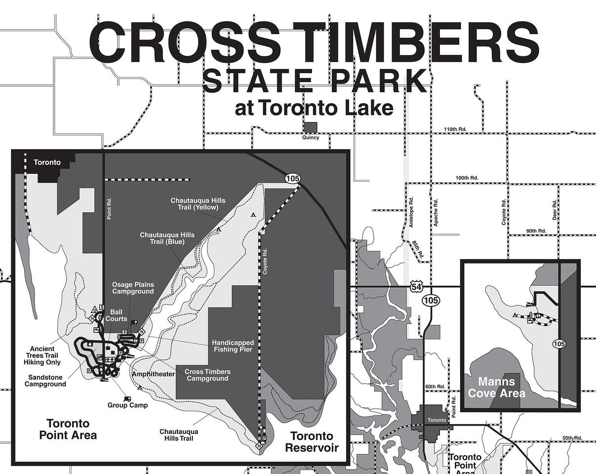 Kansas: Cross Timbers State Park Trail brochures