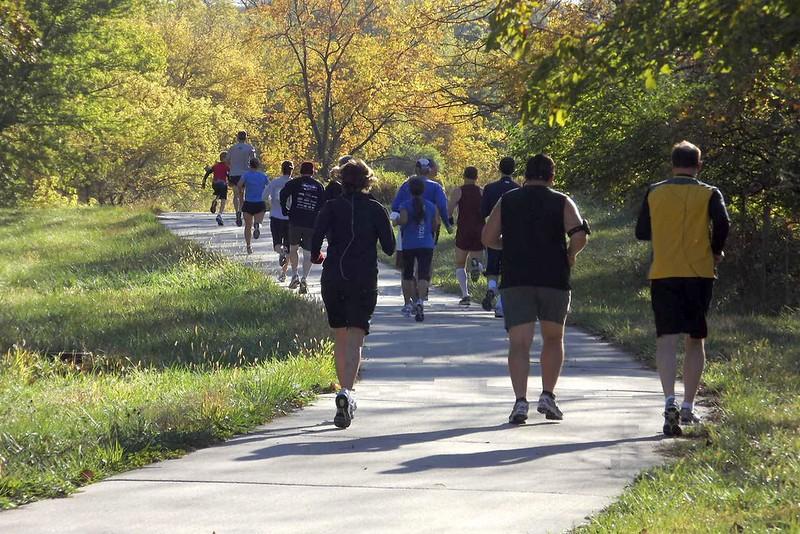 Iowa: Runners on the Mahaska Community Recreation Trail