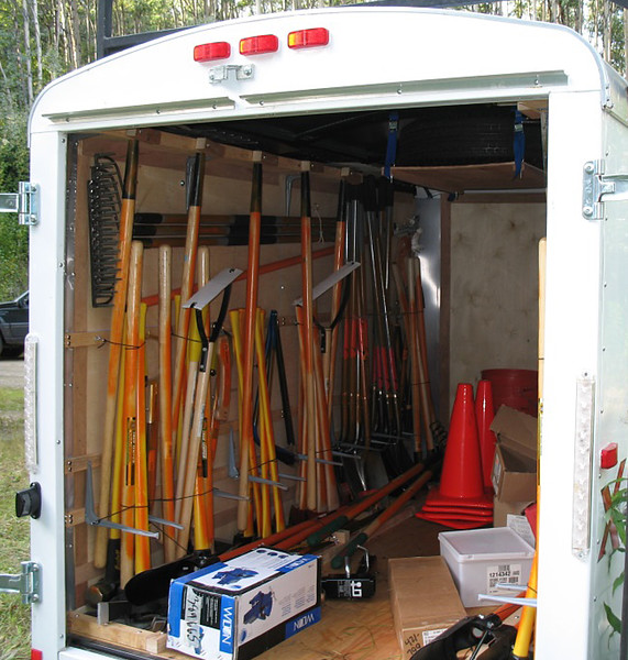 Alaska:  Alaska mobile tool trailers are equipped for volunteer use